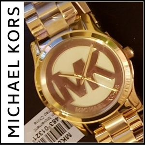 Michael Kors gold runway watch MK